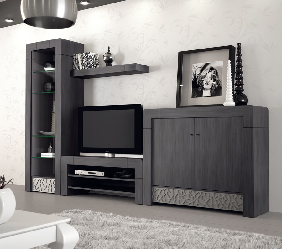 Composición Vittró de 3,05 m color gris 3 « Devitta Muebles – (RS
