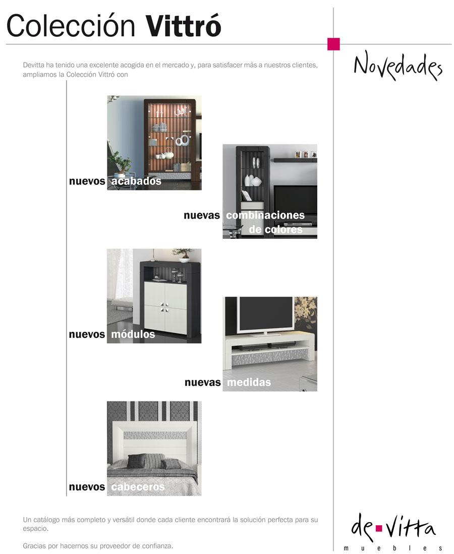 Vittr novedades devitta muebles rs ruiz y sanchez for Muebles sanchez catalogo
