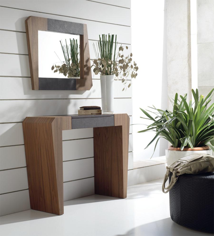 Pin muebles de espejo para espacios peque os decorando - Muebles recibidores pequenos ...