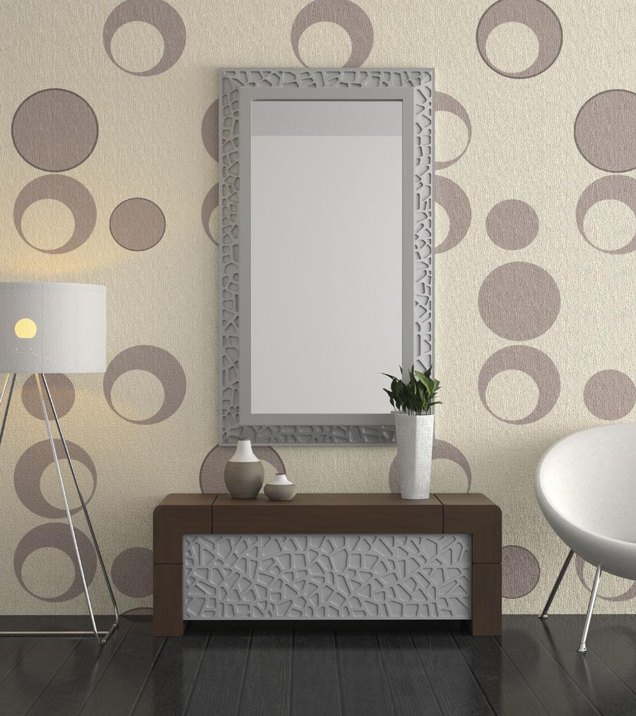 Recibidor vittr color wengu y plata devitta muebles - Colores para un recibidor ...